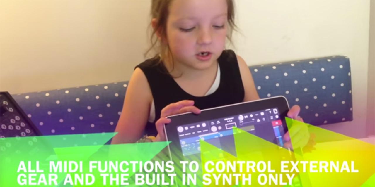 6歳の女の子がiPad MIDIシーケンサーをレビューするよ