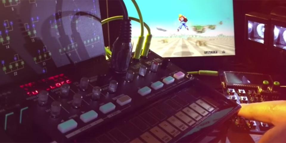 名作ゲーム「スペースハリアー」のテーマをガジェット系シンセでカバー