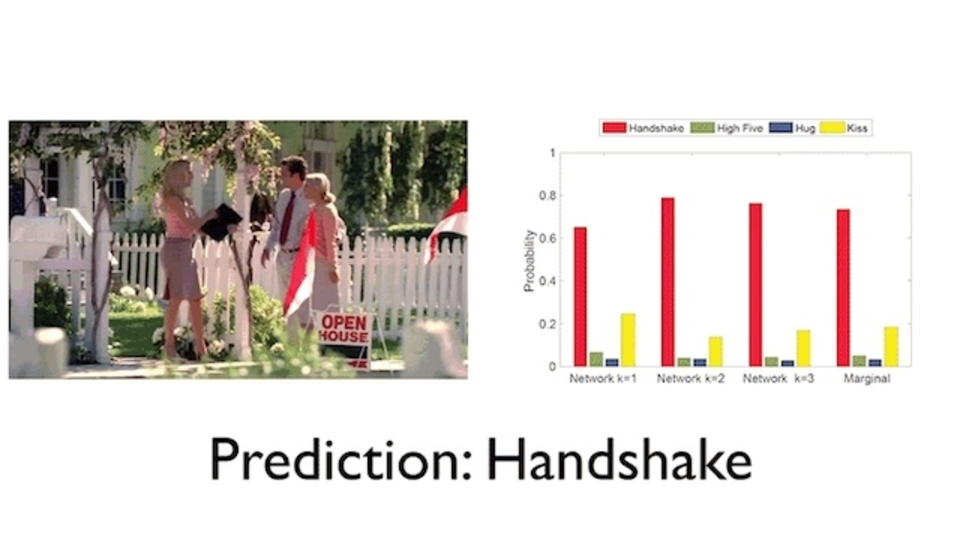 「このふたりは握手シマス...」→シター! MITの新たなAIはビデオを見て先を予測できる