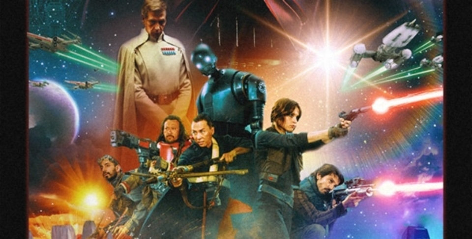 「ローグ・ワン/スター・ウォーズ・ストーリー」の撮影現場の様子を、たぎるファンメイドのポスターを肴に見よう