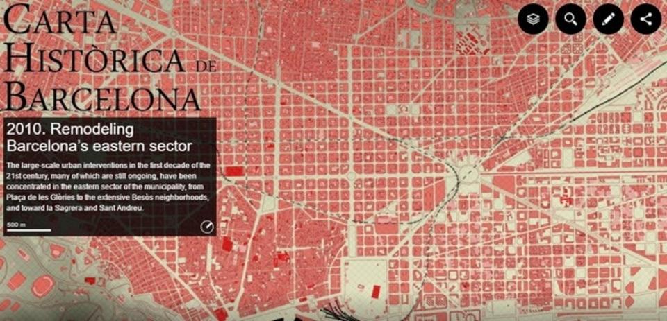 歴史の勉強にも。バルセロナの成り立ちがわかる、インタラクティブマップ