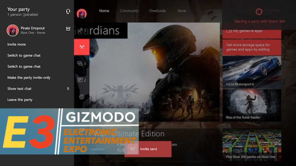 Cortanaさん、Xbox Oneに新たな居場所を見つける