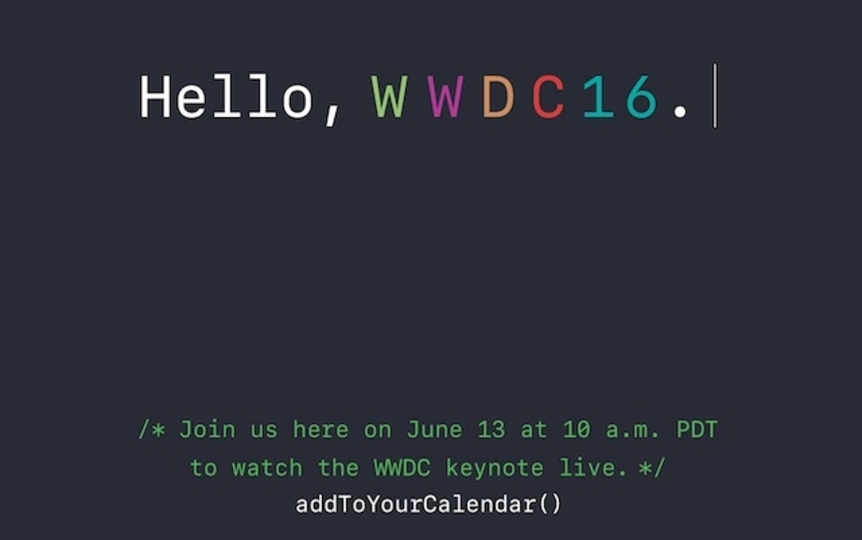 みんなで見よう! WWDC 2016のライブ中継サイトがオープン