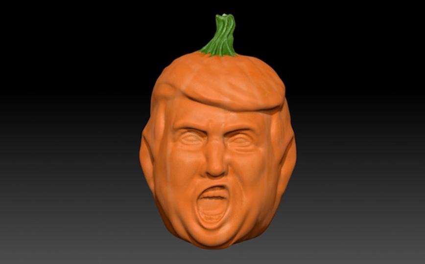 今年のハロウィンには「ドナルド・トランプの顔型かぼちゃ」がピッタリ!?