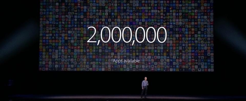 App Storeが200万アプリ、累計1300億回ダウンロード、500億ドルの収益分配を達成