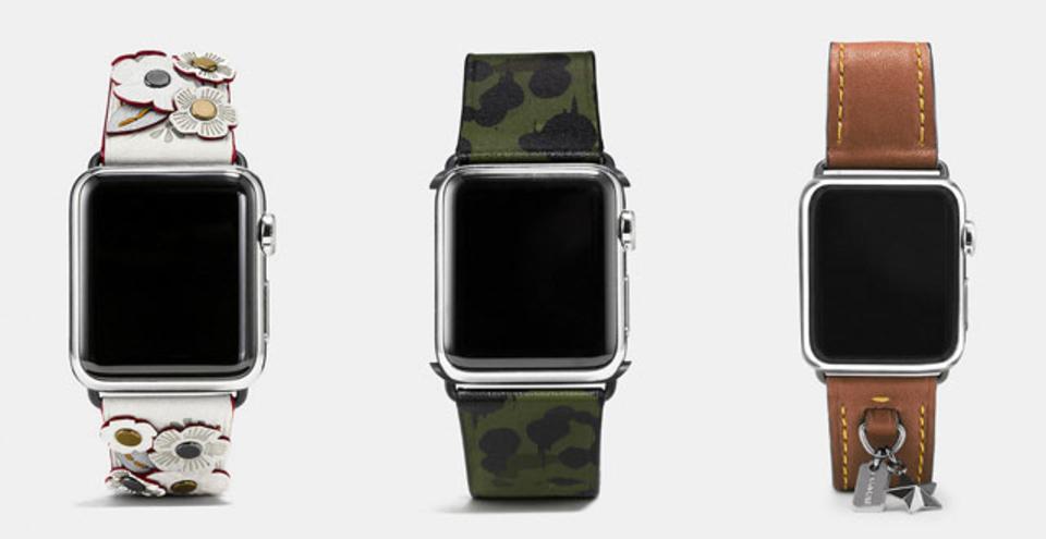 COACH、Apple Watch用の新バンドを公開。3タイプでお求めやすく