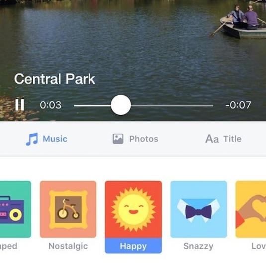 Facebookが画像や動画の「スライドショー機能」を公開