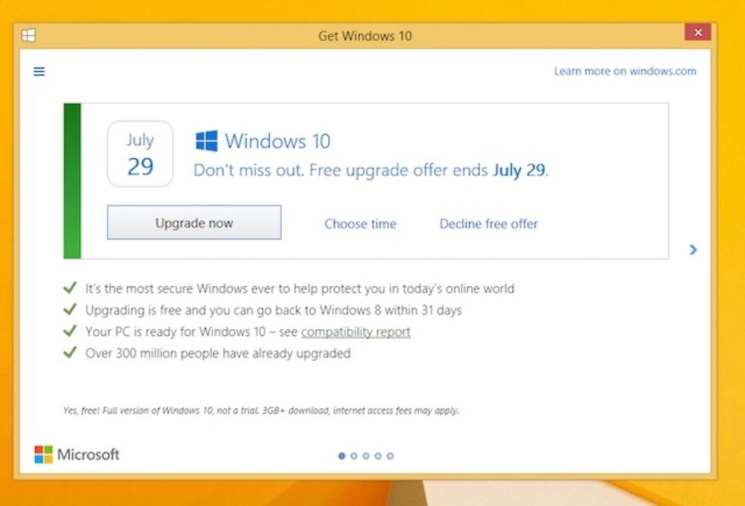 Windows 10アップグレードに「お断り」ボタンがやってくる!