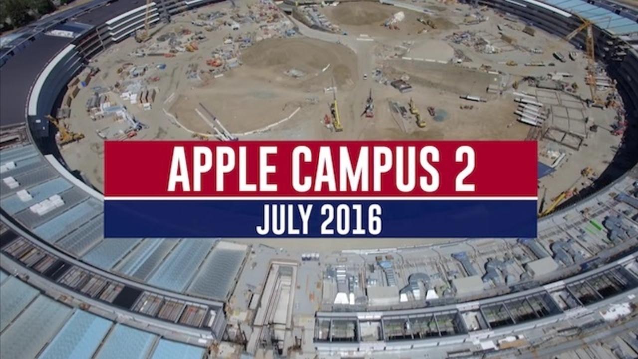 Appleの新社屋の宇宙船ビルこと「Apple Campus 2」もうすぐ完成? 最新の空撮動画が公開