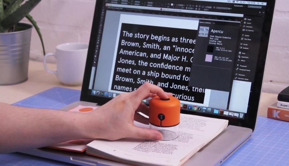 スタンプをポンッ!フォントの種類も色も読み取ってくれるガジェット
