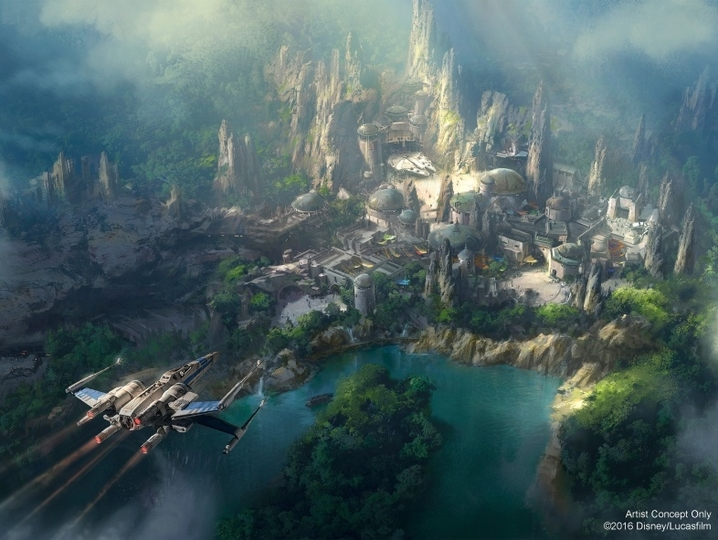 ディズニーの「スター・ウォーズ・ランド」のコンセプトアートが公開
