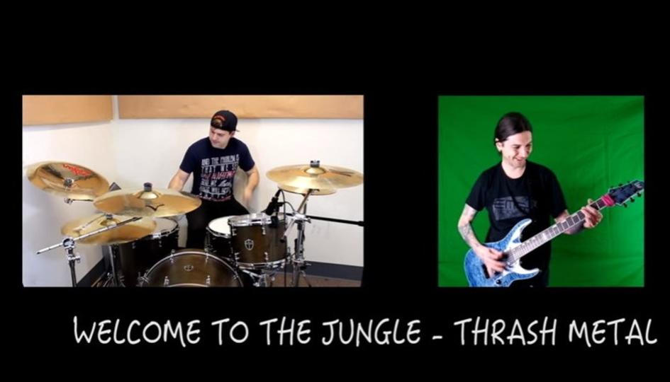 ガンズ・アンド・ローゼズの名曲をさまざなメタルアレンジで演奏
