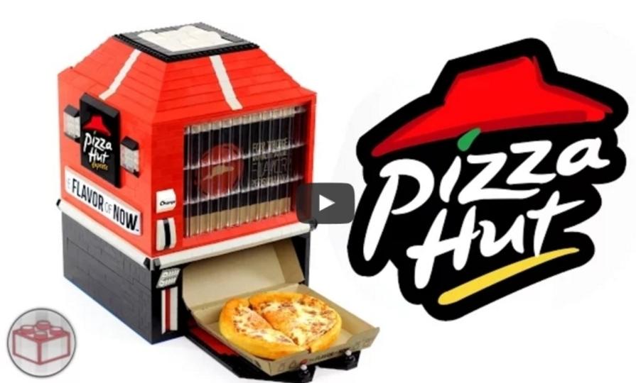 小さいけどお金入れたらちゃんと動くピザ自販機「レゴ・ピザハット・マシン」
