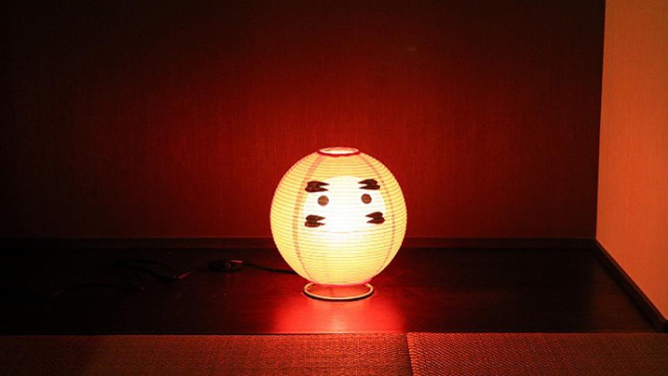 こんなに可愛く…。和紙製の名古屋提灯「テーブルランプ・だるま」