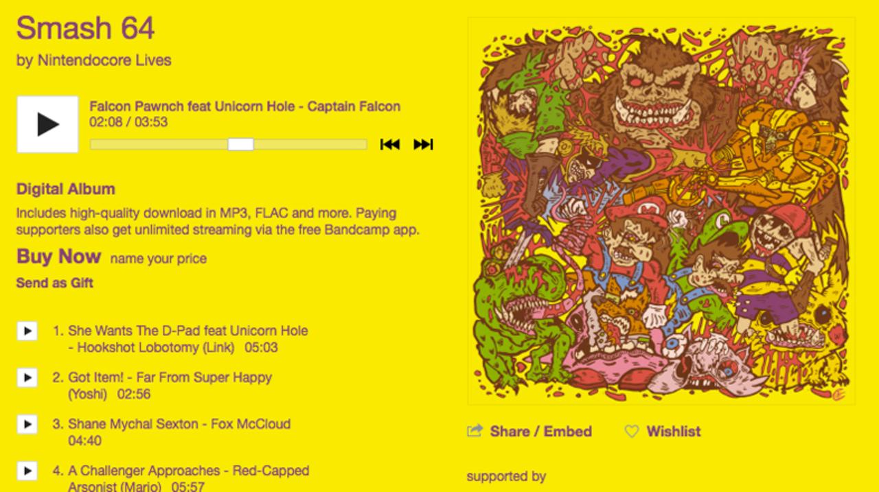 「大乱闘スマッシュブラザーズ」を元にしたニンテンドーコアなアルバムが無料配信中