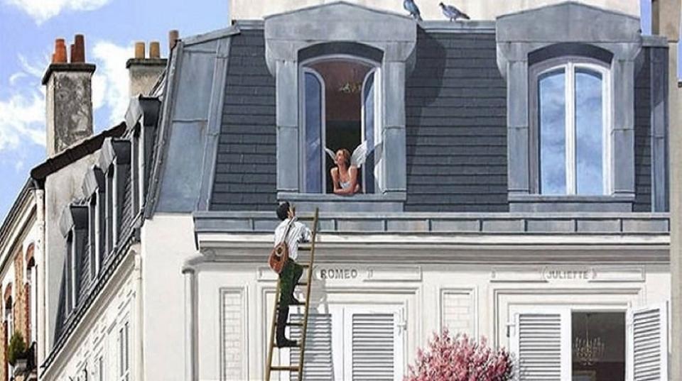 街を活気づかせる、壁一面に描かれたユーモアあふれる騙し絵