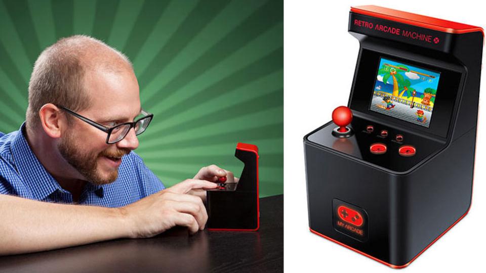 一昔前のゲームが懐かしくなったら…。デスクに置けるミニミニアーケードゲーム機