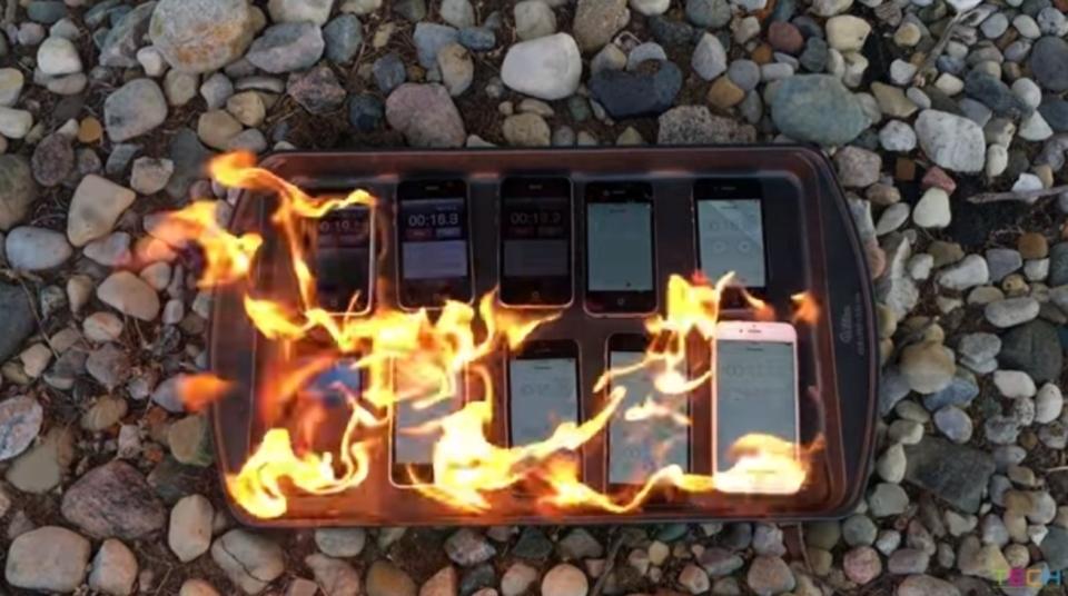 全世代のiPhoneを燃やしてみた