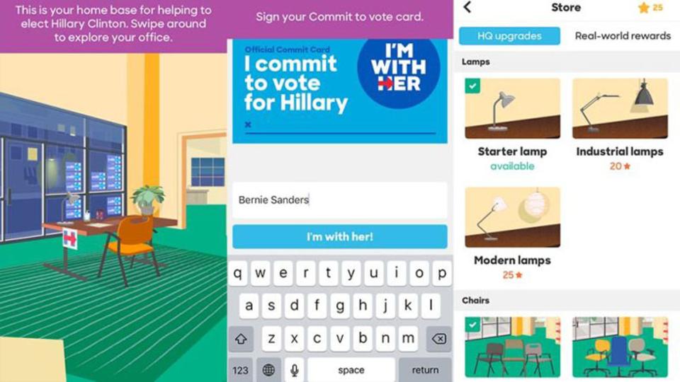 ヒラリー・クリントン候補がゲームアプリをリリース。選挙事務所の家具を豪華にしていくハテナな仕様