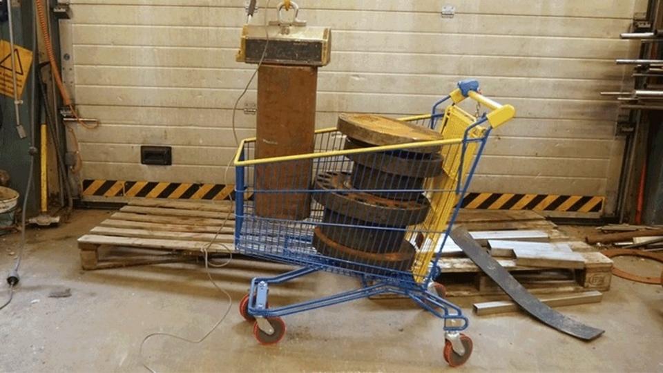 ショッピングカートはどれほどの重さに耐えられるのか