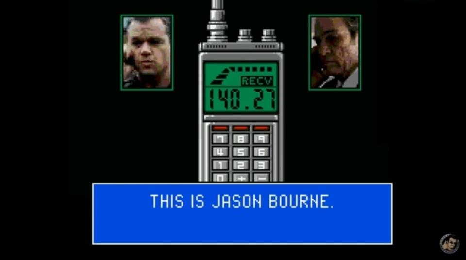 映画「ジェイソン・ボーン」の予告編が8ビットゲーム風に