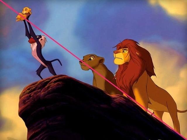 「ライオンキング」の線
