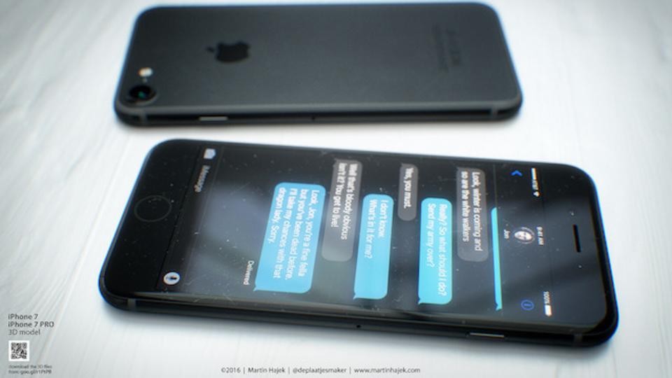 iPhone 7のスペースブラックコンセプト。締まった黒が美しい
