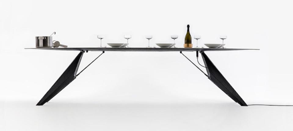 料理は暖かく、飲み物は冷たくを実現する理想のテーブル