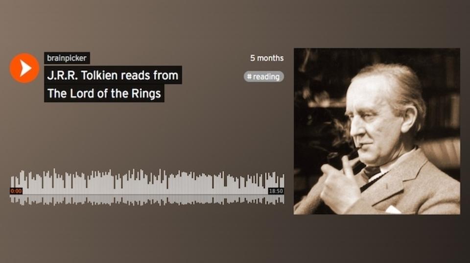 J・R・R・トールキン本人が歌い、朗読する「指輪物語」