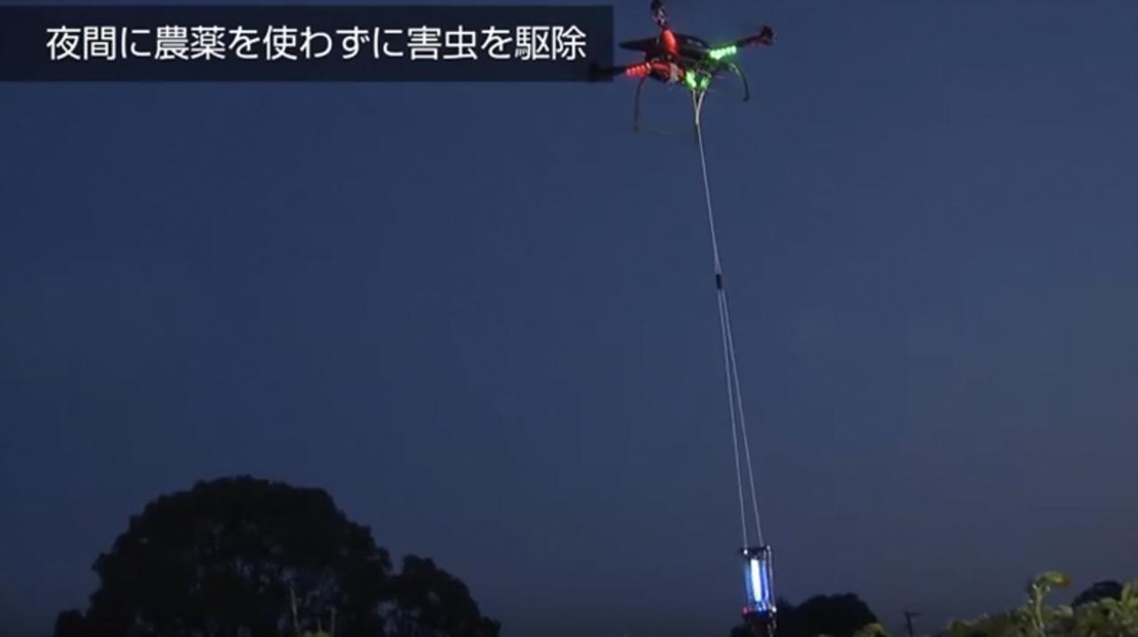 人工知能搭載ドローンが「寝ている間に害虫駆除」佐賀で実証実験に成功