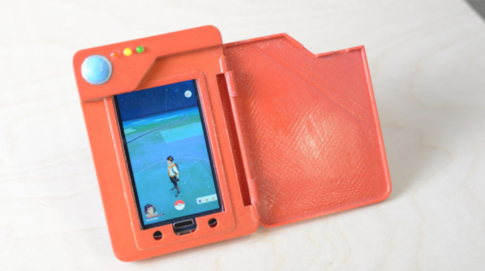 3Dプリンターで出力して、ポケモン図鑑バッテリーケースをゲットだぜ!