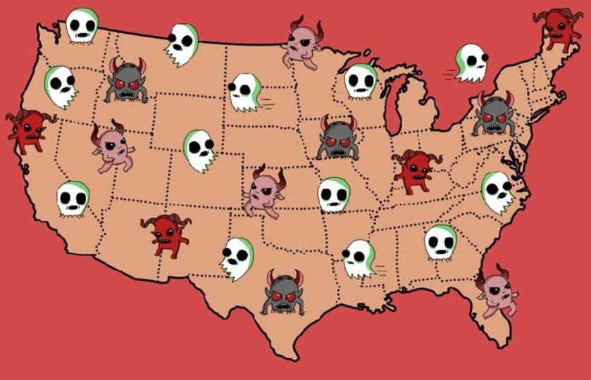 あの恐怖はどこ出身? アメリカの州別最恐ホラーリスト