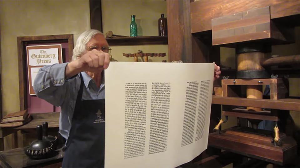 グーテンベルクの活版印刷はこうやって、刷るんです