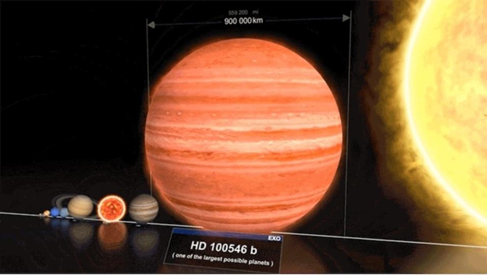 星のサイズの違いがわかる動画