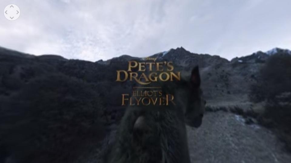 ディズニー映画「ピートとドラゴン」の360度動画で龍の背に乗って飛んでみよう