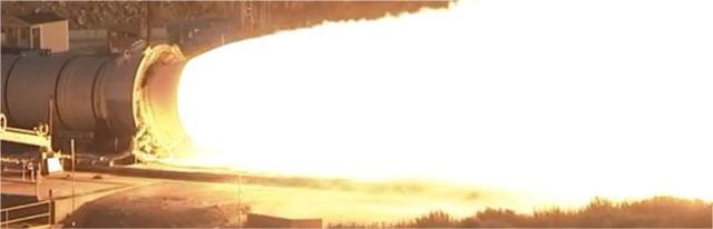 ロケットのエンジン噴射
