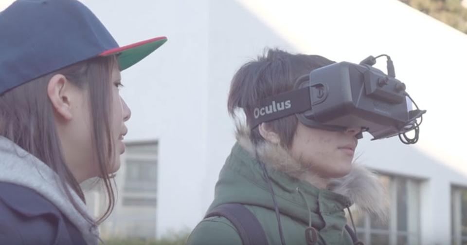 右に行っているつもりが左へ…。VRを使った無意識ナビゲーション