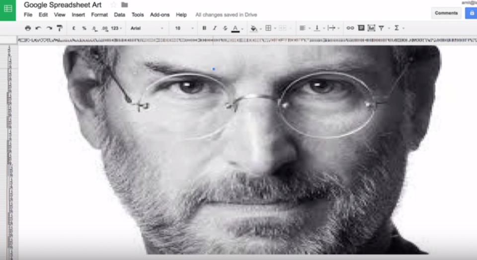 1分でGoogle スプレッドシートに絵を描く裏ワザ