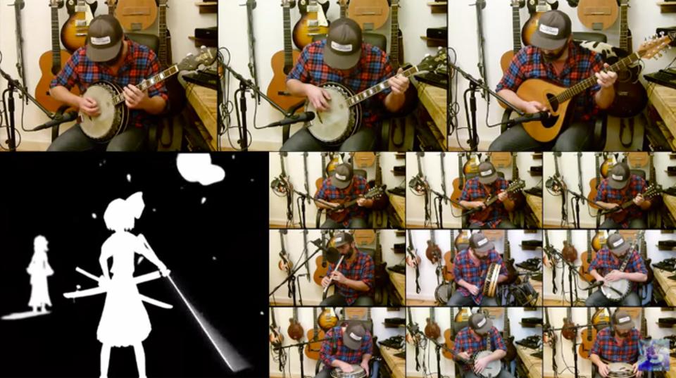 弦符「Bad Apple」をバンジョーで演奏