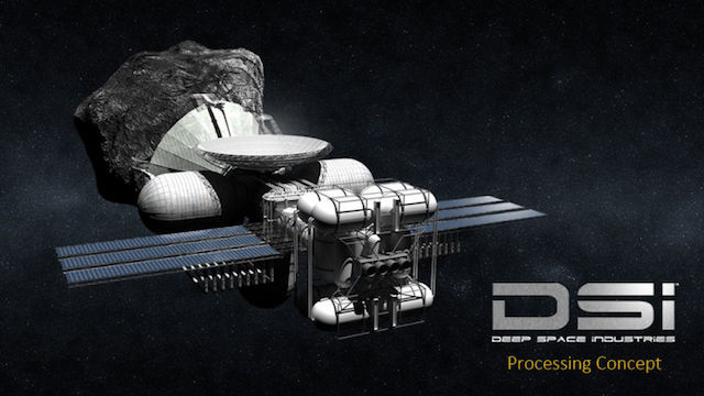 Prospector 1の小惑星採掘のシミュレーション
