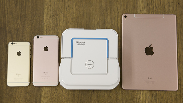 iPhone、iPadとBraava jetを比べてみた