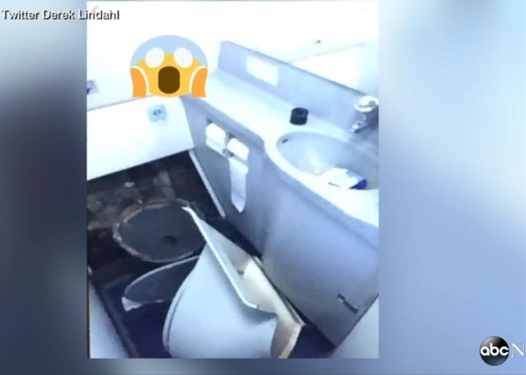 人が浮き、トイレがもげる。乱気流で垂直降下の機内ホラー