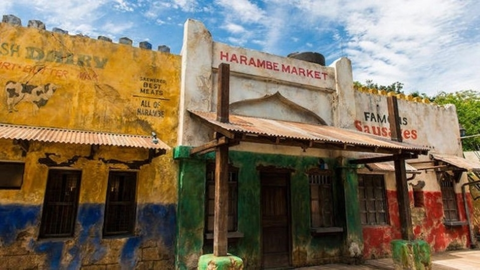 あのゴリラと同じ。ディズニー・アニマルキングダムには「ハランべ・マーケット」というレストランがあった