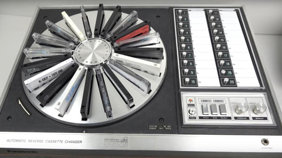 時には昔の話をしようか。70年代のiPodこと、カセットチェンジャーのPanasonic「RS-296US」
