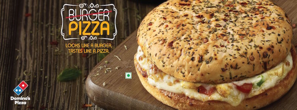 バンズからピザが飛び出す新バーガー! ドミノ・ピザがインドで限定発売