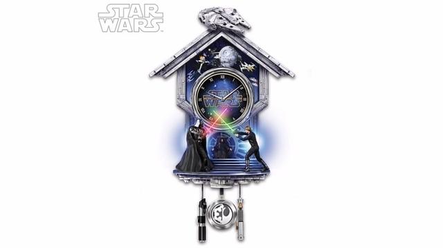 銀河をかけた戦いが時を刻む「スター・ウォーズ」掛け時計