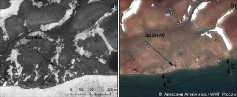 今年のロシアの北極圏の夏はデンジャラス、ヴィセ島衛星写真2