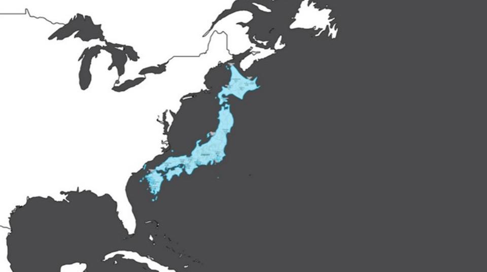 日本ってやっぱり縦長。地図上の大きさと実際の面積を比べてみたら、世界観が変わった