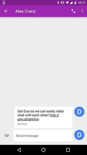 Duoの使用画面のスクリーンショット