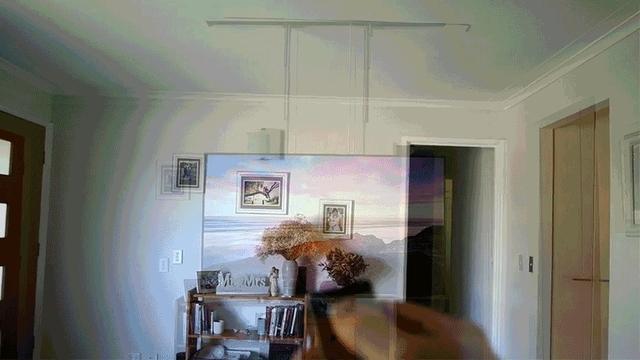何もない天井から降りてきたのはあの家電。究極の隠す収納